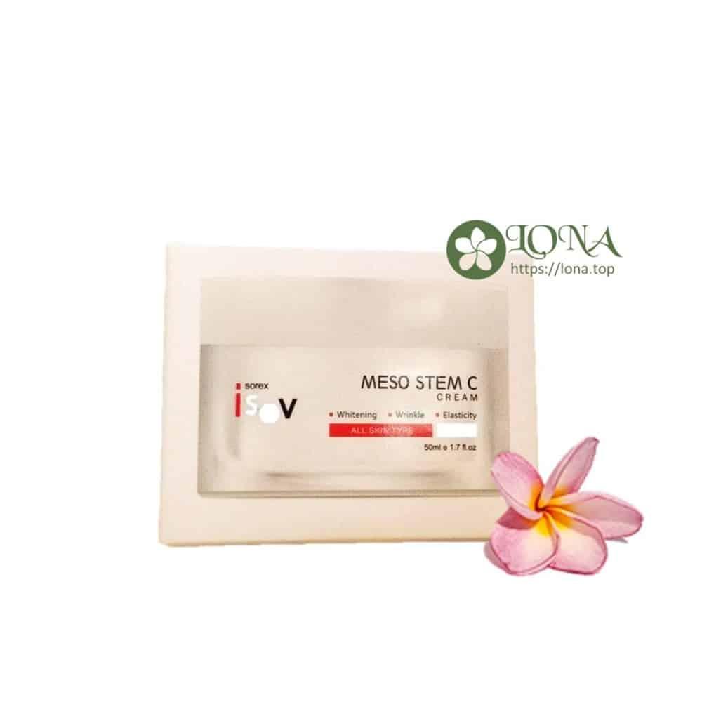 Kem trị nám Hàn Quốc Meso Stem C Cream được ứng dụng tại Lona Home Spa