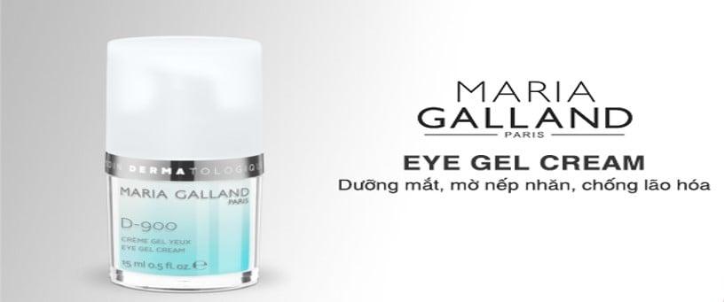 Nếp nhăn, quầng thâm, khô sạm sẽ được cải thiện tức thì với gel dưỡng mắt Maria Galland Eye Gel Cream D-900.