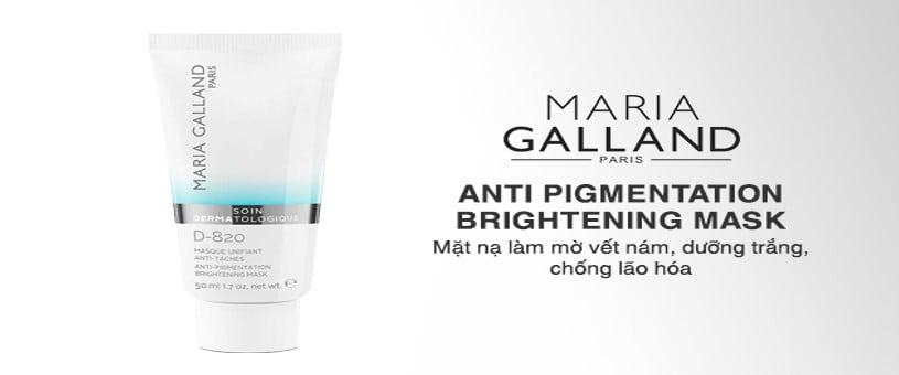 Mặt nạ trắng da Maria Galland Anti-Pigmentation Brightening Mask D-820 – trị nám cao cấp dành cho phái đẹp.
