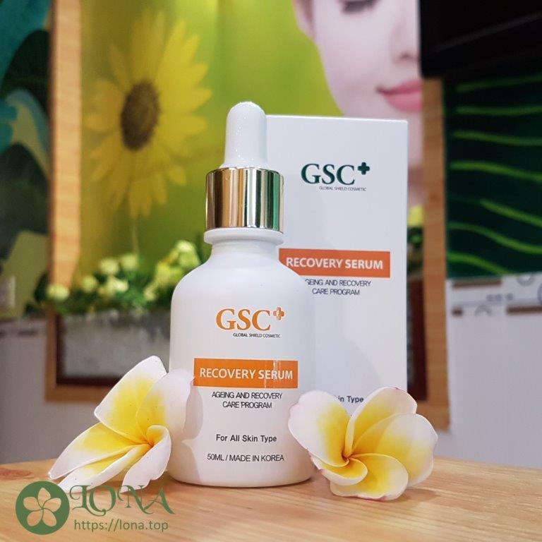 Serum dưỡng da GSC với thành phần lành tính phù hợp cho làn da nhạy cảm .