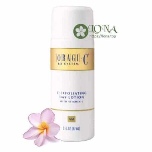 Với công dụng chính là tẩy tế bào chết và tái tạo da, Obagi C Rx Exfoliating Day Lotion giúp làn da luôn sạch khỏe sáng mịn