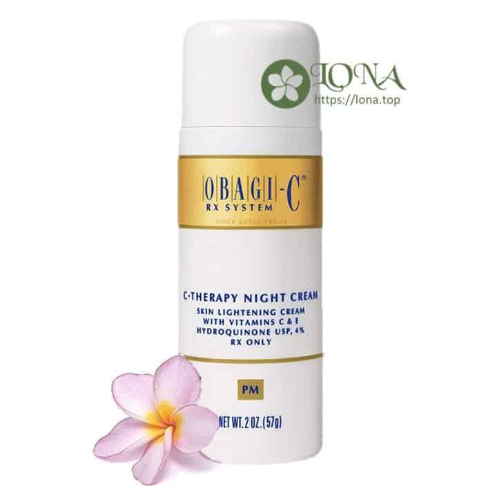 Obagi C Rx C Therapy Night Cream giúp da sáng bừng sau 1 đêm