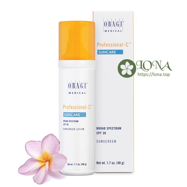 Obagi Professional C Suncare với chỉ số chống nắng SPF 30, bảo vệ làn da hiệu quả