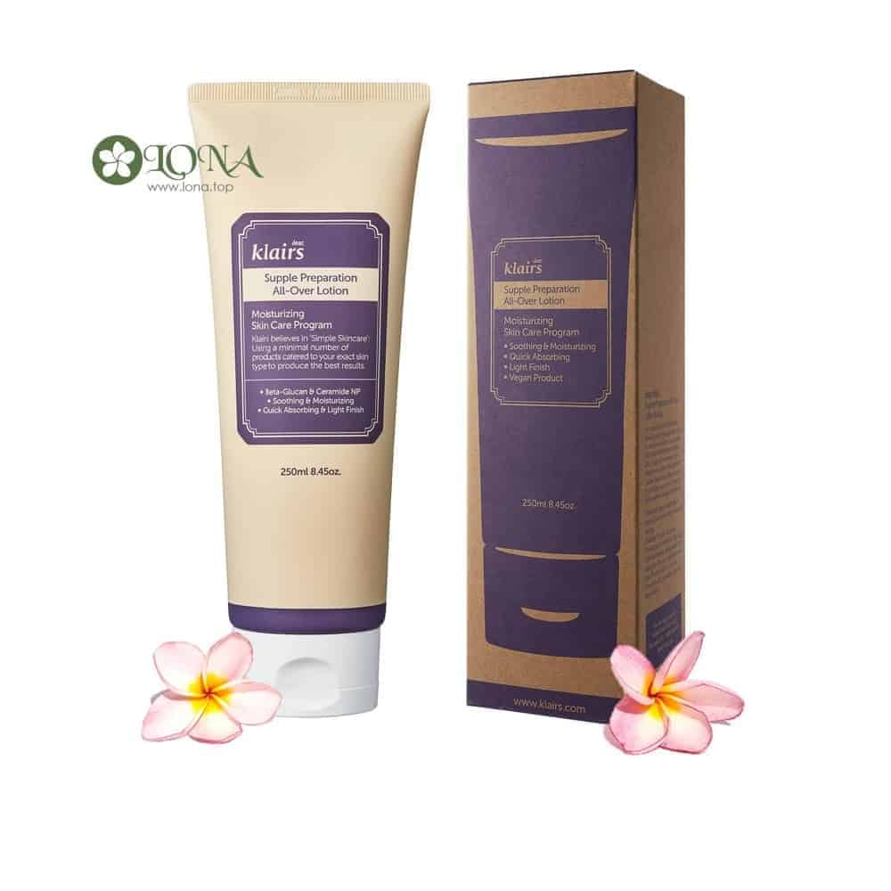 sữa dưỡng klairs supple preparation all over lotion