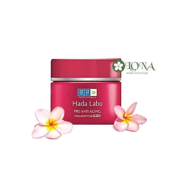 Kem Hadalabo Pro Anti Aging Collagen Plus dưỡng chuyên biệt da lão hóa, giúp làm mờ các vết sạm nám, dưỡng da trắng mượt hòa hảo