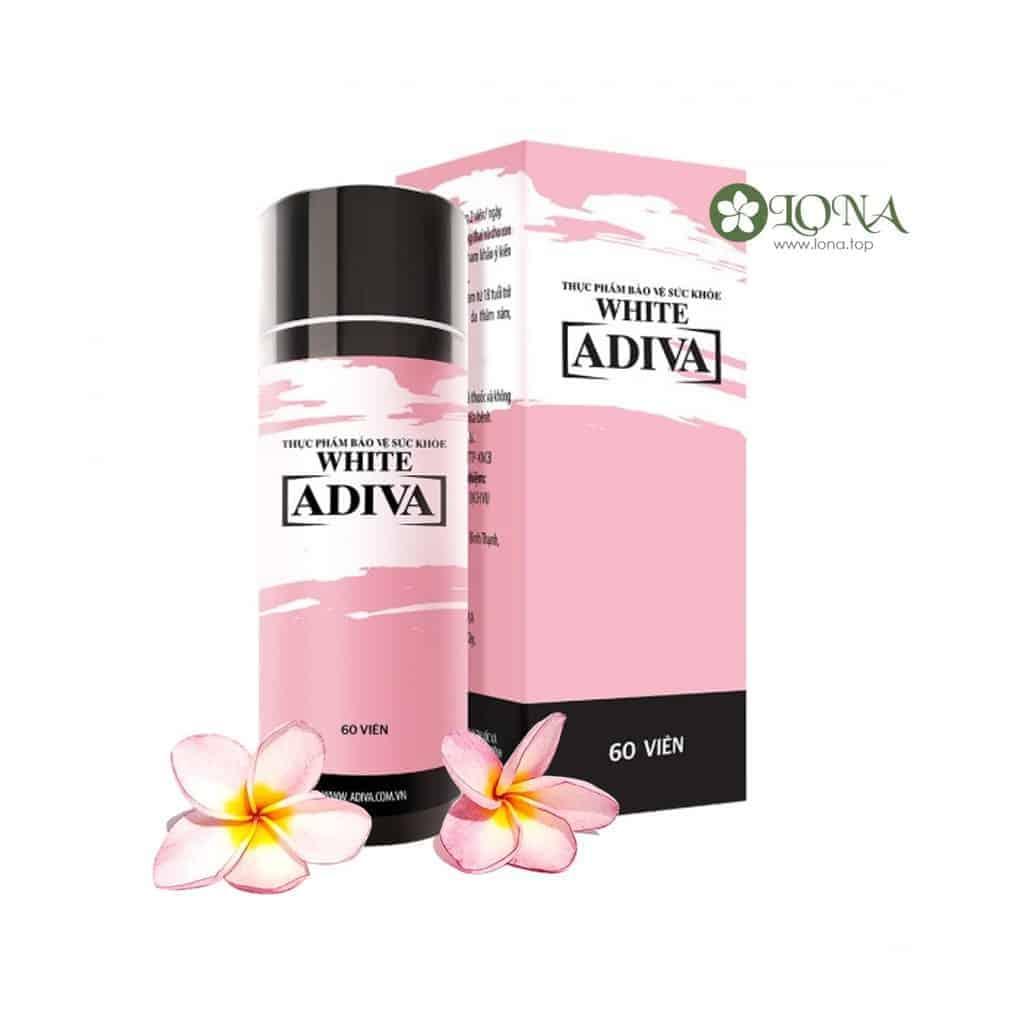 Adiva White dạng viên dưỡng trắng chống nắng