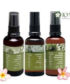 Bộ sản phẩm tăng cường và cân bằng cho da dầu Botani